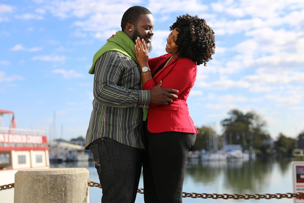 Engagement Downtown Hampton Photographer