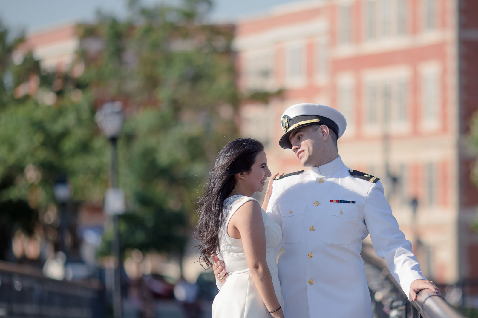 Downtown Norfolk Engagement Photo