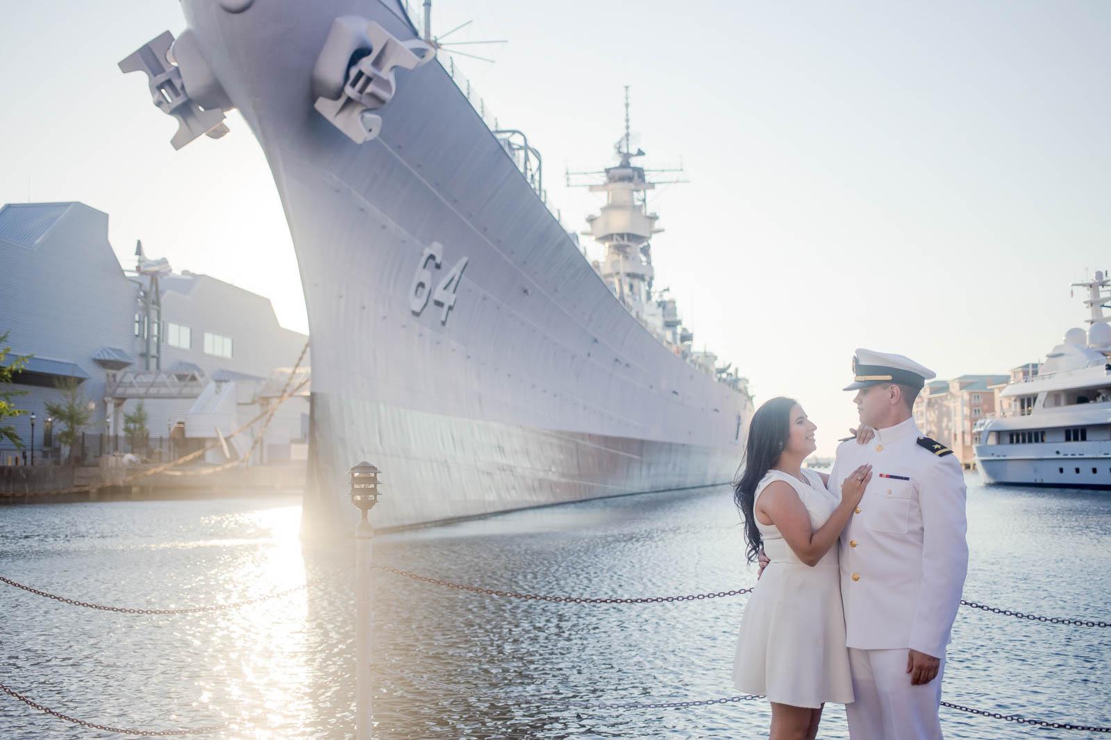 USS Constitution Engagement Photo
