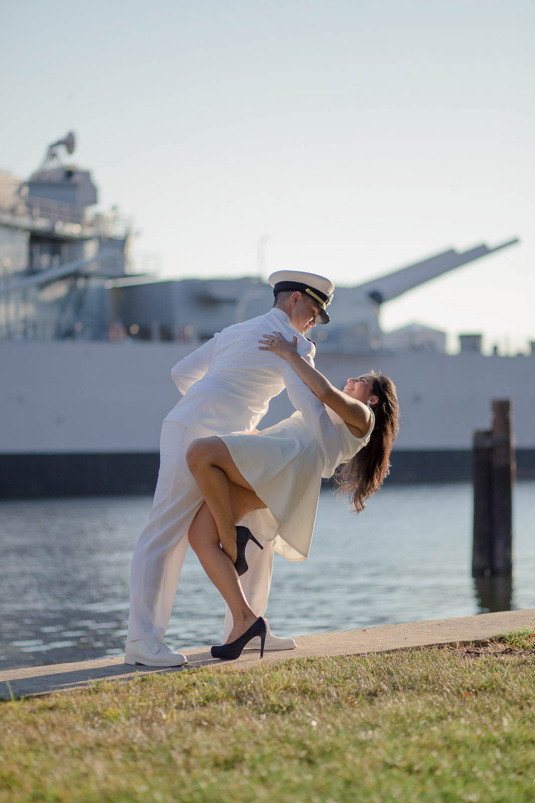 USS Constitution Engagement Session Norfolk