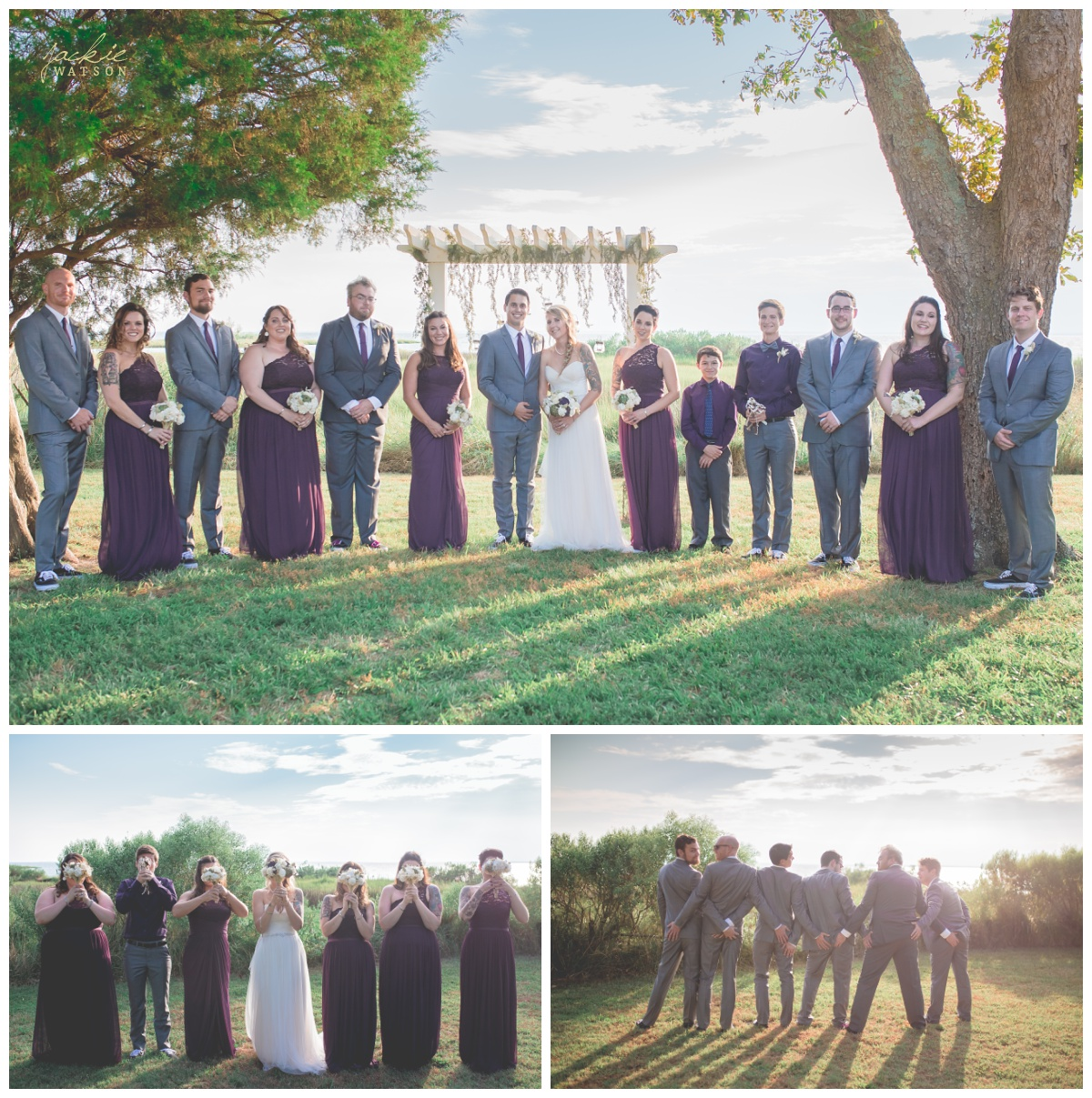 Bayvue Estate Bridal Party Portraits