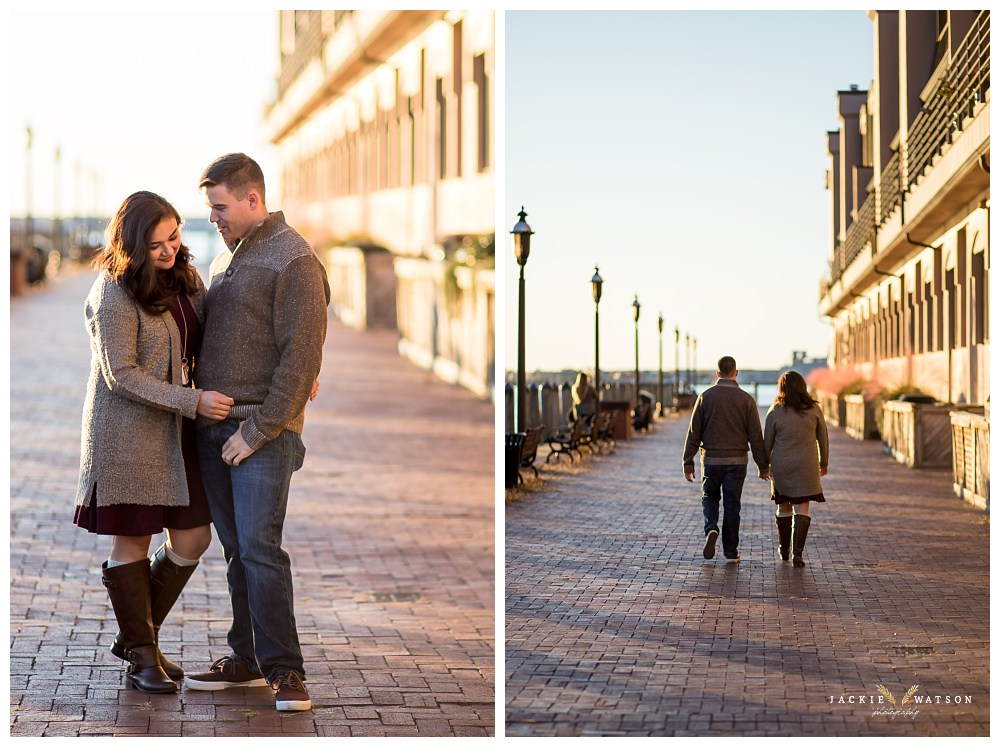 Downtown Norfolk Engagement Photography Pier