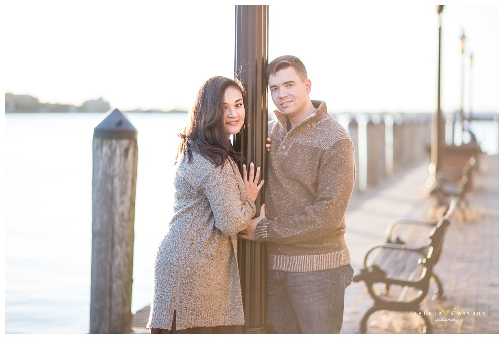 Freemason Harbor Downtown Norfolk Engagement Photography