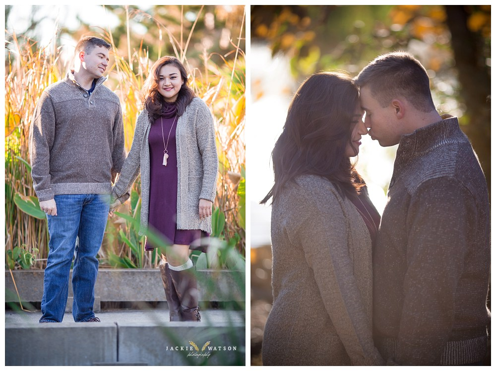 Downtown Norfolk Pagoda Garden Engagement