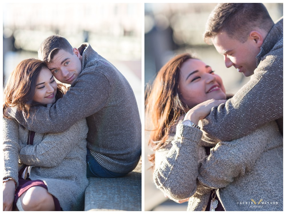 downtown norfolk proposal engagement session
